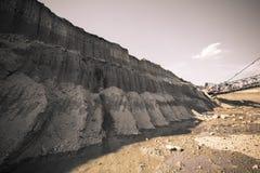 Coal mine land layer Royalty Free Stock Photo
