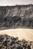 Coal mine land layer Royalty Free Stock Photography