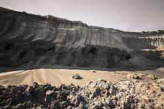 Coal mine land layer Royalty Free Stock Image