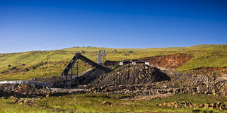 Coal Mine - Mine Shaft Side View Stock Images