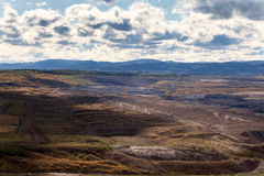 Coal mine,Most,Czech Republic. Landscape royalty free stock photos
