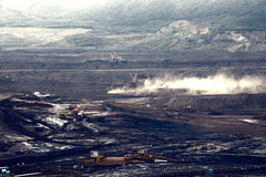 Coal mine, Most, Czech Republic. Landscape royalty free stock image
