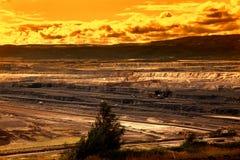 Coal mine,Most,Czech Republic, sunset sky. Landscape stock images