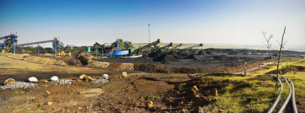 Coal Mine - Panoramic View Royalty Free Stock Images