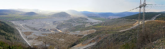 Coal mine Pljevlja. Coal mine excavation site in Pljevlja Montenegro Royalty Free Stock Photography