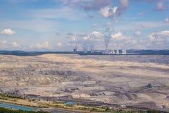 Coal Mine in Poland. Coal mine in Turow village near Bogatynia town, Poland Royalty Free Stock Photos