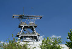 Coal mine shaft Stock Images