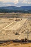 Coal mine, Sokolov,Czech Republic. Cloudy sky royalty free stock image