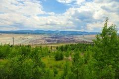 Coal mine, Sokolov,Czech Republic. Trees royalty free stock photos