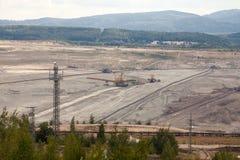 Coal mine, Sokolov,Czech Republic. Trees stock photo