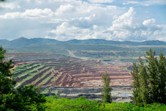 Coal Mine. In Top View Stock Photo