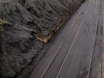 Coal mine train transfer storage site Stock Photography