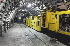 Coal mine transporter stock photography