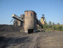 Coal mine in Ukraine Stock Photo