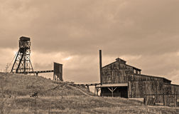 COAL MINE in Vintage Sepia Stock Photography