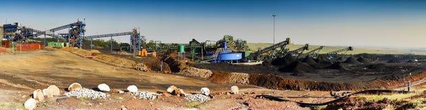Coal Mine - Wide Angle View Stock Image