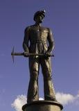 Coal Miner. A Statue Of A Coal Miner Stock Photos