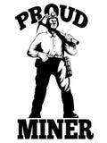 Coal miner pick axe retro Royalty Free Stock Photo