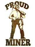 Coal miner pick axe retro Stock Images