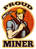 Coal miner pick axe retro Stock Image