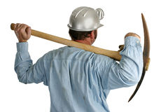 Coal Miner With Pickax - Back1 stock photos