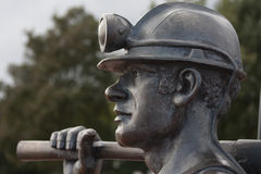 Coal Miner Statue Stock Photography