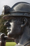 Coal Miner Statue Stock Photos