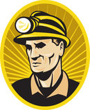 Coal miner worker front Royalty Free Stock Images