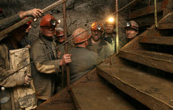 Coal miners stock images