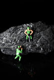 Coal miniature miners Stock Images