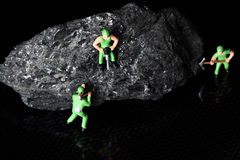 Coal miniature miners Royalty Free Stock Images