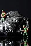 Coal miniature miners Royalty Free Stock Photography