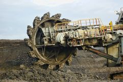 Coal Mining. In action, this is coal heavy equipment Royalty Free Stock Images