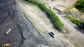 Coal Mining Aerial Borneo Indonesia royalty free stock photos