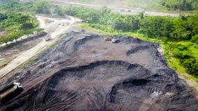 Coal Mining Aerial Borneo Indonesia stock photography