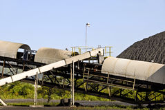 Coal Mining Conveyor Belt Royalty Free Stock Image