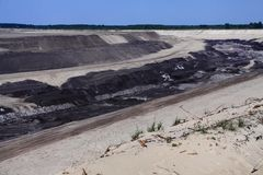 Coal mining in Cottbus royalty free stock image