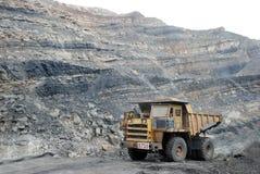 Coal mining Dumper. Dump truck at coal mine in India Stock Photo