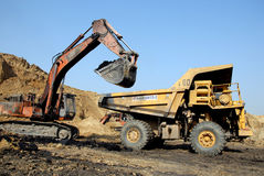 Coal Mining Equipment Royalty Free Stock Photo