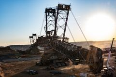 Coal mining excavator royalty free stock photos