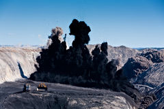 Coal Mining Explosion II Stock Photo