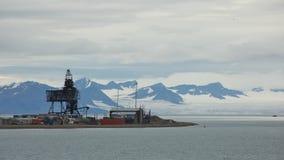 Coal Mining Facility in Longyearbyen, Svalbard Royalty Free Stock Photo