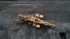 Free Coal Mining From Above Royalty Free Stock Image - 150310406