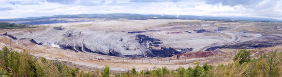 Coal Mining In An Open Pit Stock Image