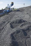 Coal mining. Loader in open-cast mine Stock Image