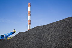 Coal mining. Loader in open-cast mine Royalty Free Stock Photography