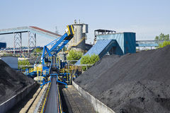 Coal mining. Loader in open-cast mine Stock Images