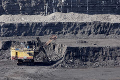 Coal mining. In the open air Royalty Free Stock Image