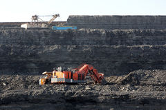Coal mining in the open air. General form Royalty Free Stock Photography
