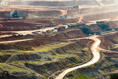 Coal mining in open pit Stock Photography